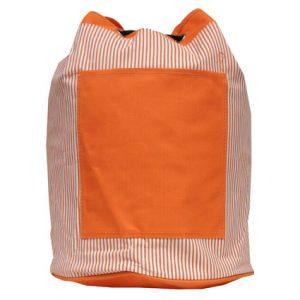 STRIPED DRAWSTRING BAG