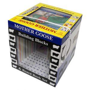 MOTHER GOOSE BLOCK & BOOK SET