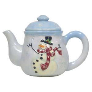 CURLY SNOWMAN TEAPOT