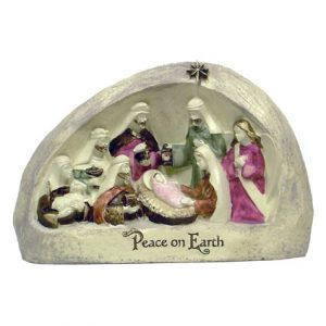 RESIN PEACE ON EARTH NATIVITY