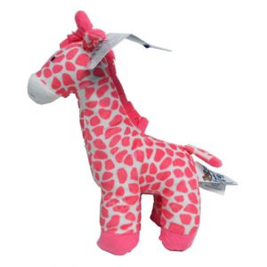 "10.5"" RATTLE GIRAFFE PINK & BLUE"