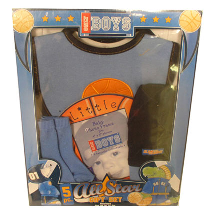 5PC ALL STAR BABY GIFT SET