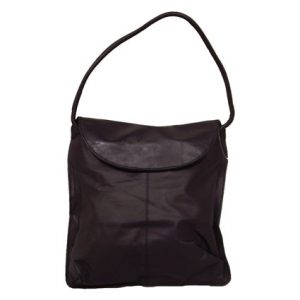 BLACK LEATHER SQUARE PURSE