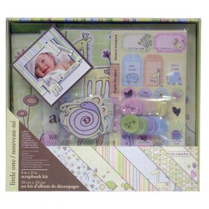 8 X 8 BABY SCRAPBOOK KIT