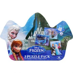 FROZEN PUZZLES IN SHAPED TIN
