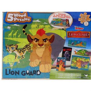 LION GUARD 5PK WOOD PUZZLE