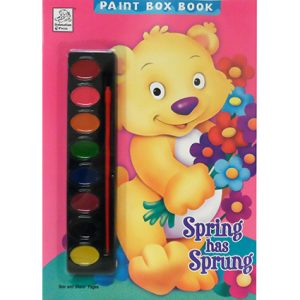 SPRING HAS SPRUNG PAINT BOX COLORING BOOK