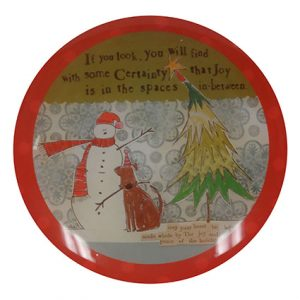 LOOK JOY GLASS PLATE