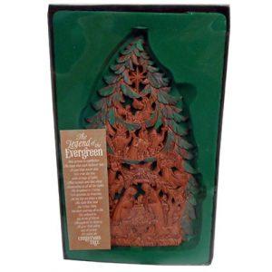 EVERGREEN CHRISTMAS TREE PLAQUE