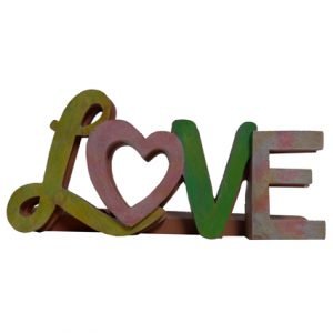 "7X3"" LOVE RESIN TABLETOP WORD"