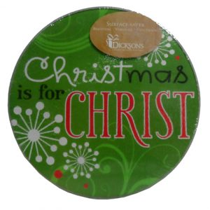 CHRISTMAS IS FOR CHRIST GLASS CUTTING BOARD