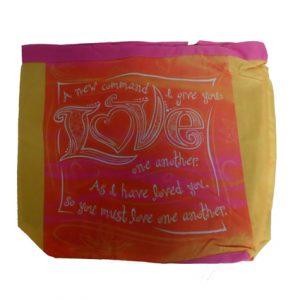 LOVE (ORANGE & YELLOW) CANVAS TOTE BAG