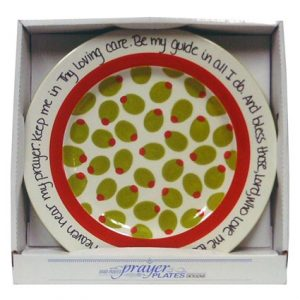 "13"" OLIVE PRAYER PLATE"