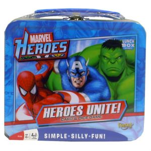 MARVEL HEROES UNITE LUNCHBOX CARD/DICE GAME