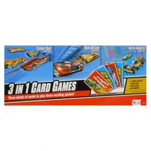 HOT WHEELS 3 IN 1 CARD GAMES