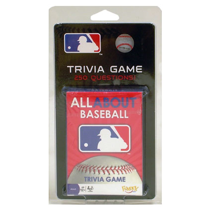 ALL ABOUT BASEBALL TRIVIA CARD GAME