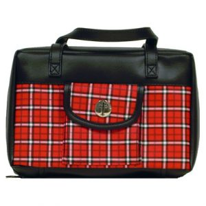 MED PLAID BIBLE COVER W/ CROSS