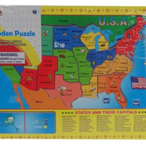 WOOD USA MAP PUZZLE