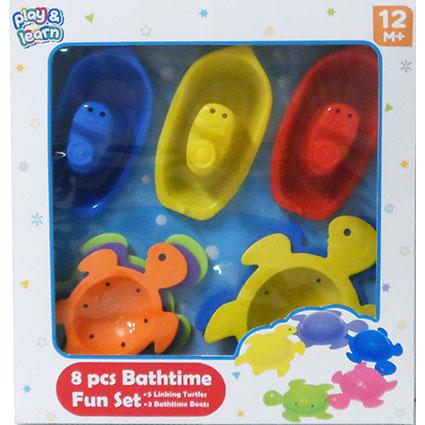 8PC BATHTIME PLAYSET