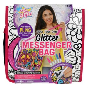 GLITTER MESSENGER BAG