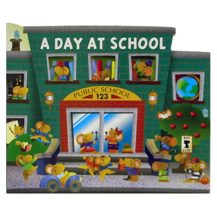A DAY AT SCHOOL/ZOO/FARM BOARD BOOK