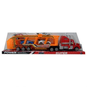 "17.5"" FRICTION SEMI TRUCK W/ CARS"