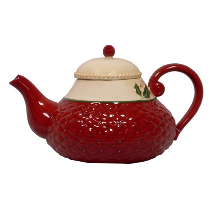 60 OZ. CHRISTMAS TEA POT