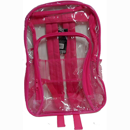 "17"" CLEAR BACKPACK ASST."