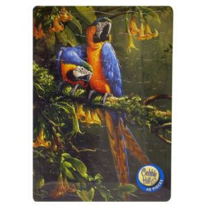 MACAWS IN THE MIST TRAY PUZZLE 48PC