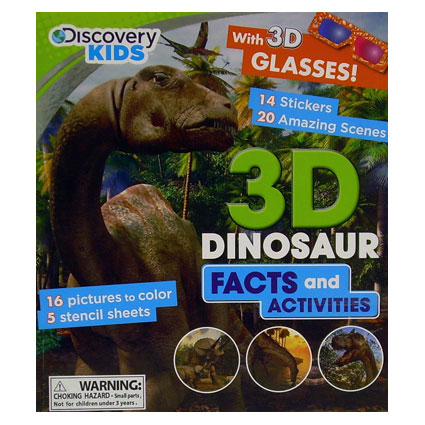 DISCOVERY KIDS 3D DINOSAUR ACT BOOK