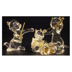 KITTENS GLASS FIG ASST