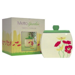 METRO GARDEN CERAMIC COOKIE JAR