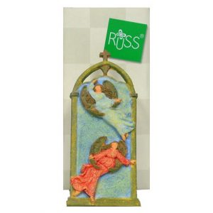 CHRISTMAS RESIN ANGEL PLAQUE