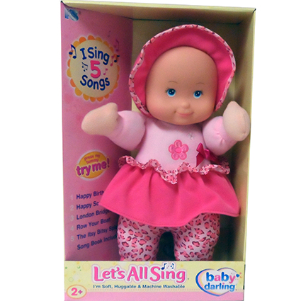 "13"" LET'S ALL SING DOLL-CAUC"