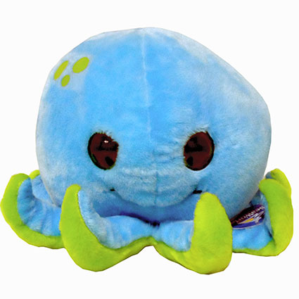 "9"" OCTOPUS BUBBLE ZOO PLUSH"
