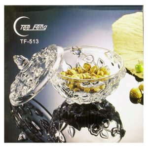 CRYSTAL GLASS TEE FENG DISH