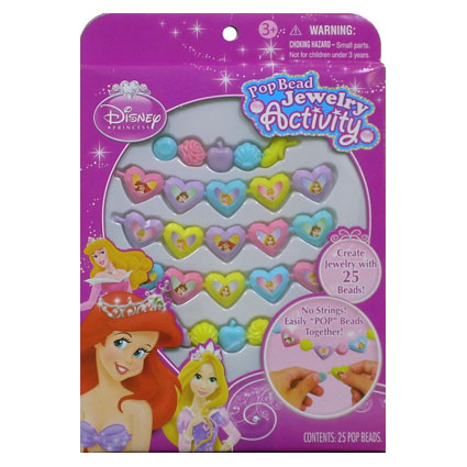 25PC PRINCESS POP BEAD JEWELRY