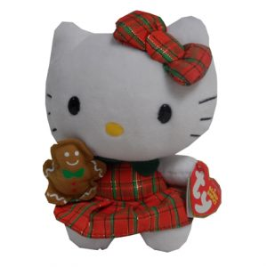 BEANIE BABY- HELLO KITTY CHRISTMAS- GINGERBREAD